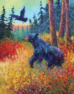 Forest Friends Painting by Marion Rose - Forest Friends Fine Art Prints and Posters for Sale