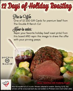 Follow the directions to enter! For a bonus entry, follow WABeef here on Pinterest and comment on this Pin with your favorite way to use your holiday leftovers!