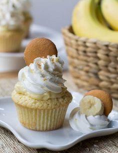 banana pudding, pud cupcak