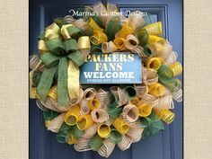 Packers Fans Welcome Wreath :)