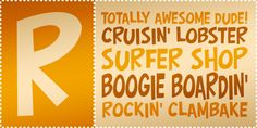 Boogie Boardin' #font #typography #lettering #youthful