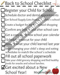 Free Printable Back to School Checklist for Parents! #backtoschool #inspireothers
