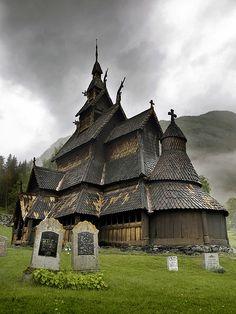 Borgund Stavkyrkje by mac_a_rroni, via Flickr-12th century wooden house