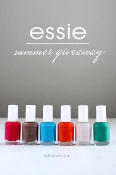 I'm giving away the entire Essie Summer 2014 collection at http://www.fabfatale.com/2014/06/manicure-mondays-essie-summer/ #nailpolish...