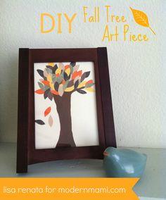 Fall Tree Art Craft for Kids #fallcrafts #kidscrafts #fall