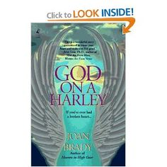 God on a Harley by Joan Brady.  Loved it, a fast and sweet read.