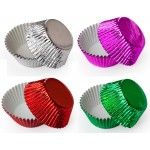 Colored Foil Cupcake Liners, Standard Size Baking Cups BULK - 500 Liners (7 Colors Available!)