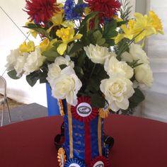 Equestrian ribbon vase
