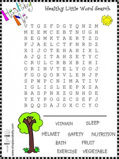 Healthy little WORD SEARCH!