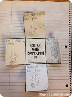 Math Notebook- Two Digit Addition Steps