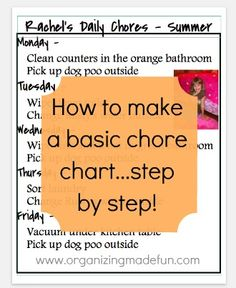 How to make a basic chore chart - step by step!