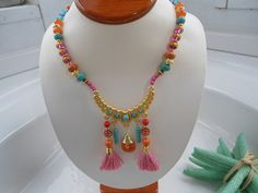 SALE ARABIAN PRINCESS Necklace  22k Gold Plated  Middle by Nezihe1, $44.00