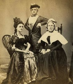 Brooklyn Sanitary Fair - 1864 - exhibition of patriotism - participants dressed in period costumes to raise money. Actual civil war reenactors, hee hee.