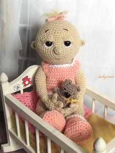 Crocheted Baby Doll by ladynoir63, via Flickr