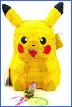 Pokemon 3D Pikachu Pull Pinata - make it a pinata party this birthday nathaniel birthday, birthday parti, pokemon parti, pokemon birthday, pokeman birthday, parti idea, bday parti