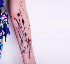 Amanda Wachob; water color tattoo