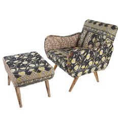 2-Piece Chadna Arm Chair & Ottoman
