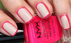 Neon Outline // Fab Fatale // http://blog.theknot.com/2013/07/23/the-engaged-girls-guide-to-nail-art/