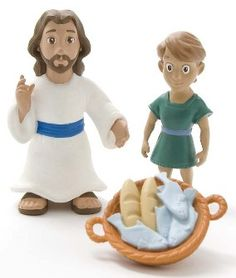 sunday school, bibl, jesus feed, 5000 christian, toys, children, action figures, game, kid