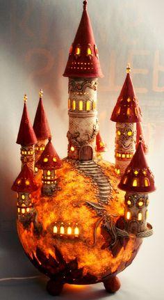 DreamWorld Lamp by BARBARA DREAMS   Polymer Clay Planet, amazing!