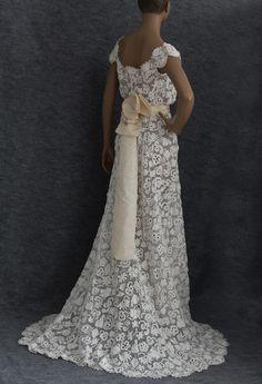 handmade irish wedding dress