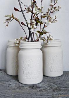 jar vase, balls, masons, porcelain mason, mason jars