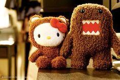 Hello....Kitty and Domo!