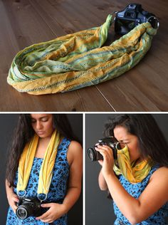 scarf camera strap (plus other ways to make it!)
