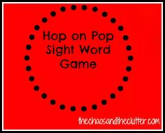 Dr. Seuss Hop on Pop Sight Word Game