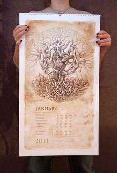 Irina Vinnik→Saurians Renaissance (Calendar 2011)