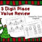 A review of 3 digit place value with standard, expanded, picture, and word form. There are a total of 7 worksheets, 5 pages where the student will ...