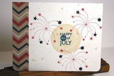 Happy 4th Of July Card by Heather Nichols for Papertrey Ink (May 2013)