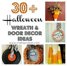 30+ Halloween Wreaths and Door Decor
