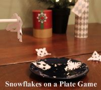Kids Christmas party Games - Snowflakes on a Plate