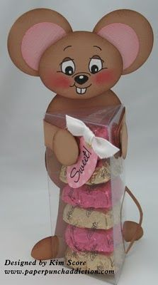 punch art mouse treat box tutorial designed by Kim Score