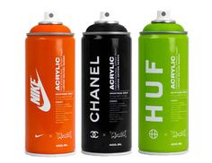 Fashion Labels Stylishly Branded onto Spray Cans