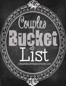 couples bucket list
