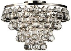 Bling Polished Nickel Clear Glass Ceiling Light