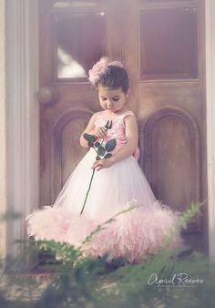 Tea Rose Girls Feather Dress