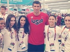 MIchael Phelps, McKayla Maroney, Jordyn Wieber, Gabby Douglas, Aly Raisman and Kyla Ross