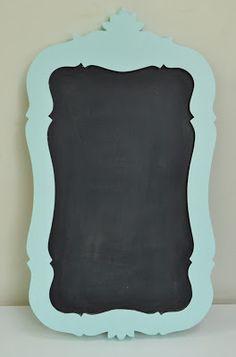 DIY chalkboard from old mirror