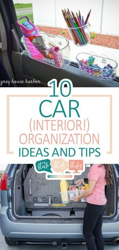 10 Car (Interior!) Organization Ideas and Tips | Car Organization | Car Organization Ideas | Tips and Tricks | Car Hacks #car #organization