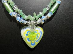 Heart Necklace Womens Heart Jewelry Sale 2 Strand by JewelActs, $39.00