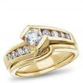 West End, 14K Yellow Gold Diamond Bridal Set, 1.00 ctw.