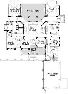 U Shaped House Plans Single Level C Shaped House Plans ~ Home Plan ...