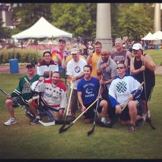 Dwane Lay representing Dovetail Software in the first annual SHRM Hockey Tournament     #HR #Hockey #SHRM