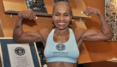 This AWESOME lady is 75 years old!!!!!  WOW....Ernestine Shepherd  You totally Rock!!