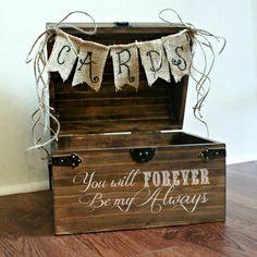 Shabby Chic Rustic Wooden Card Box Wedding Card Box by BoaAndBoo, $65.00