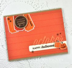 Happy Halloween Card by Dawn McVey for Papertrey Ink (October 2014)