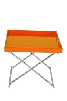 orange tray table